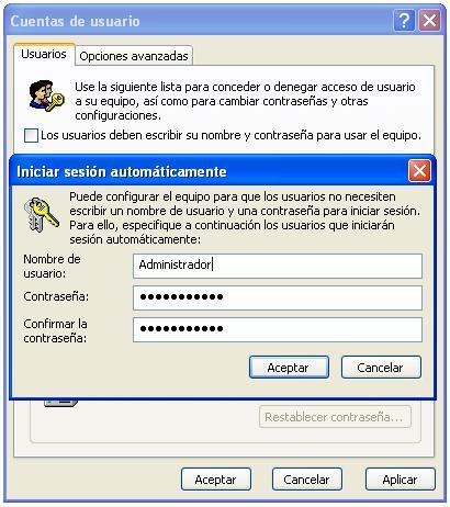 Usuarios Automático