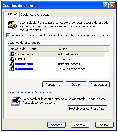 Usuarios Windows Xp